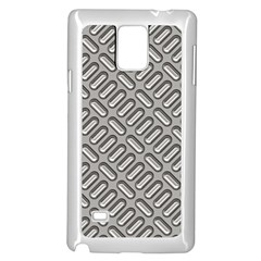 Grey Diamond Metal Texture Samsung Galaxy Note 4 Case (white) by BangZart