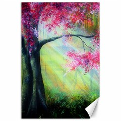 Forests Stunning Glimmer Paintings Sunlight Blooms Plants Love Seasons Traditional Art Flowers Sunsh Canvas 24  X 36  by BangZart