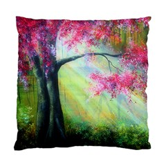Forests Stunning Glimmer Paintings Sunlight Blooms Plants Love Seasons Traditional Art Flowers Sunsh Standard Cushion Case (two Sides)