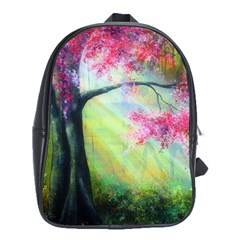Forests Stunning Glimmer Paintings Sunlight Blooms Plants Love Seasons Traditional Art Flowers Sunsh School Bags(large)  by BangZart