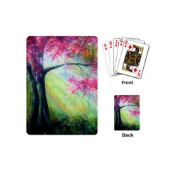Forests Stunning Glimmer Paintings Sunlight Blooms Plants Love Seasons Traditional Art Flowers Sunsh Playing Cards (mini)  by BangZart