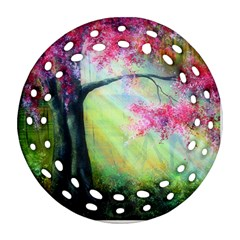 Forests Stunning Glimmer Paintings Sunlight Blooms Plants Love Seasons Traditional Art Flowers Sunsh Ornament (round Filigree) by BangZart