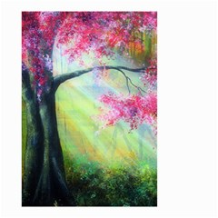 Forests Stunning Glimmer Paintings Sunlight Blooms Plants Love Seasons Traditional Art Flowers Sunsh Small Garden Flag (two Sides)