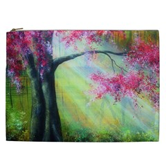 Forests Stunning Glimmer Paintings Sunlight Blooms Plants Love Seasons Traditional Art Flowers Sunsh Cosmetic Bag (xxl)  by BangZart