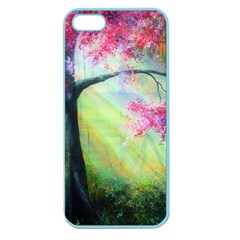 Forests Stunning Glimmer Paintings Sunlight Blooms Plants Love Seasons Traditional Art Flowers Sunsh Apple Seamless Iphone 5 Case (color)