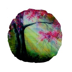Forests Stunning Glimmer Paintings Sunlight Blooms Plants Love Seasons Traditional Art Flowers Sunsh Standard 15  Premium Round Cushions by BangZart