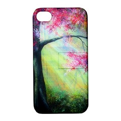 Forests Stunning Glimmer Paintings Sunlight Blooms Plants Love Seasons Traditional Art Flowers Sunsh Apple Iphone 4/4s Hardshell Case With Stand