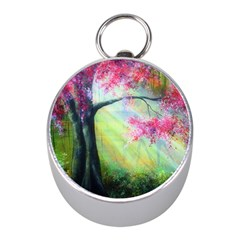 Forests Stunning Glimmer Paintings Sunlight Blooms Plants Love Seasons Traditional Art Flowers Sunsh Mini Silver Compasses by BangZart