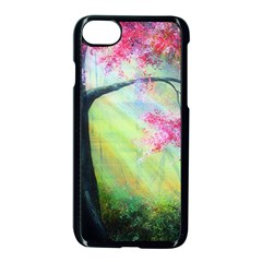 Forests Stunning Glimmer Paintings Sunlight Blooms Plants Love Seasons Traditional Art Flowers Sunsh Apple Iphone 7 Seamless Case (black)