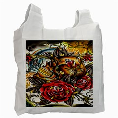 Flower Art Traditional Recycle Bag (one Side) by BangZart
