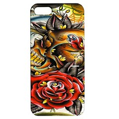 Flower Art Traditional Apple Iphone 5 Hardshell Case With Stand