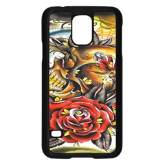 Flower Art Traditional Samsung Galaxy S5 Case (black)