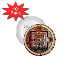 Colorful Mandala 1 75  Buttons (10 Pack) by BangZart