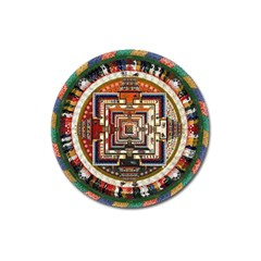 Colorful Mandala Magnet 3  (round)