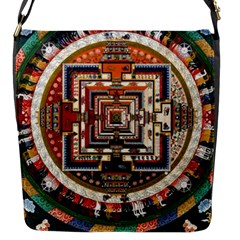 Colorful Mandala Flap Messenger Bag (s)