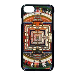 Colorful Mandala Apple Iphone 7 Seamless Case (black)