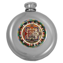 Colorful Mandala Round Hip Flask (5 Oz) by BangZart