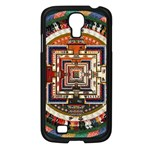 Colorful Mandala Samsung Galaxy S4 I9500/ I9505 Case (Black) Front