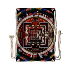 Colorful Mandala Drawstring Bag (small)