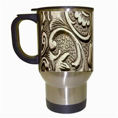 Golden European Pattern Travel Mugs (white)