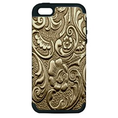 Golden European Pattern Apple Iphone 5 Hardshell Case (pc+silicone) by BangZart
