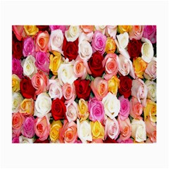 Rose Color Beautiful Flowers Small Glasses Cloth by BangZart