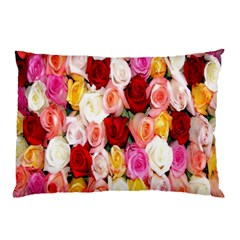 Rose Color Beautiful Flowers Pillow Case by BangZart