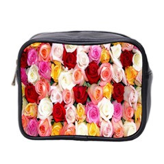 Rose Color Beautiful Flowers Mini Toiletries Bag 2 Side by BangZart