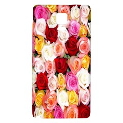 Rose Color Beautiful Flowers Galaxy Note 4 Back Case by BangZart