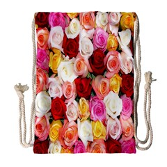 Rose Color Beautiful Flowers Drawstring Bag (large) by BangZart