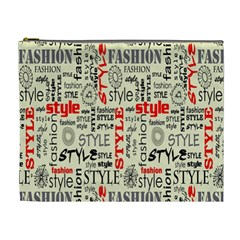 Backdrop Style With Texture And Typography Fashion Style Cosmetic Bag (xl) by BangZart