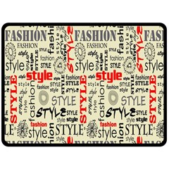Backdrop Style With Texture And Typography Fashion Style Fleece Blanket (large)