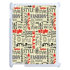 Backdrop Style With Texture And Typography Fashion Style Apple Ipad 2 Case (white)