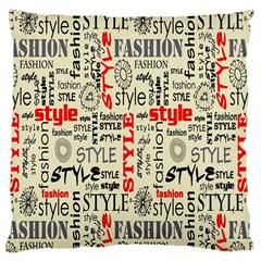 Backdrop Style With Texture And Typography Fashion Style Large Cushion Case (two Sides)