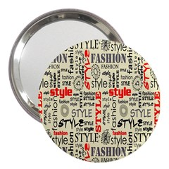 Backdrop Style With Texture And Typography Fashion Style 3  Handbag Mirrors