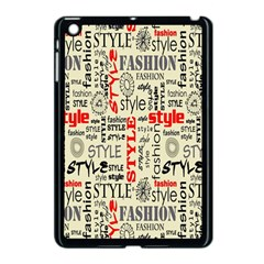 Backdrop Style With Texture And Typography Fashion Style Apple Ipad Mini Case (black)