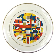 Hide And Seek Porcelain Plates by BangZart
