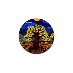 Tree Of Life Golf Ball Marker (4 Pack) by BangZart