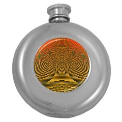 Fractal Pattern Round Hip Flask (5 Oz) by BangZart