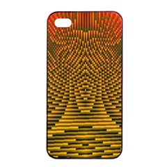 Fractal Pattern Apple Iphone 4/4s Seamless Case (black)