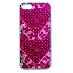 Pink Batik Cloth Fabric Apple Seamless Iphone 5 Case (color) by BangZart