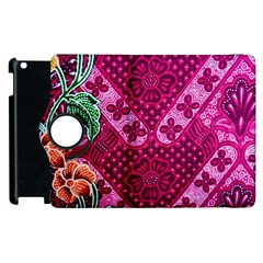 Pink Batik Cloth Fabric Apple Ipad 3/4 Flip 360 Case