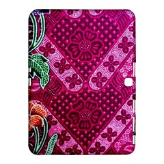 Pink Batik Cloth Fabric Samsung Galaxy Tab 4 (10 1 ) Hardshell Case