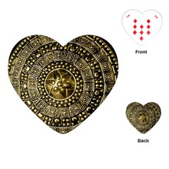 Gold Roman Shield Costume Playing Cards (heart)