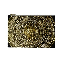 Gold Roman Shield Costume Cosmetic Bag (large)