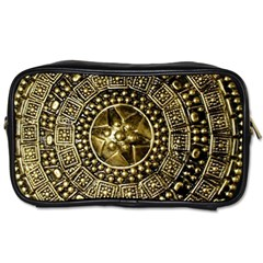 Gold Roman Shield Costume Toiletries Bags