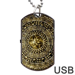 Gold Roman Shield Costume Dog Tag Usb Flash (two Sides)
