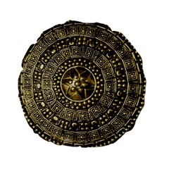 Gold Roman Shield Costume Standard 15  Premium Flano Round Cushions by BangZart