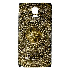 Gold Roman Shield Costume Galaxy Note 4 Back Case by BangZart