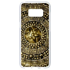 Gold Roman Shield Costume Samsung Galaxy S8 White Seamless Case